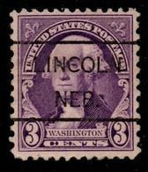 """USA Precancel Vorausentwertung Preo, """"LINCOLN"""" (NEB). 3 Cents. - Preobliterati"""