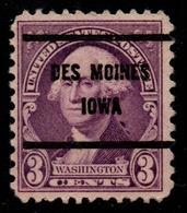 """USA Precancel Vorausentwertung Preo, """"DES MOINES"""" (IOWA). 3 Cents. - Stati Uniti"""