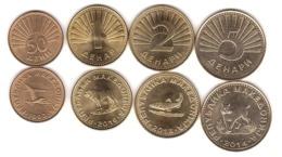 Macedonia - Set 4 Coins 50 Deni 1 2 5 Denari 1993 - 2014 AUNC - Lemberg-Zp - Macedonia