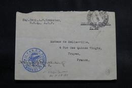 FRANCE - Cachet De Censure A.E.F. Sur Enveloppe Pour La France ( Correspondance De Soldat Américain ) - L 56512 - Marcophilie (Lettres)