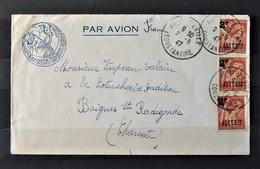 03 - 20 // Algérie N°233 X 3 Sur Lettre De Constantine à Destination De Baignes Ste Radegonde + Cachet Légion étrangère - Algerien (1924-1962)