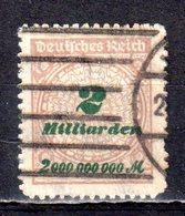 Deutsches Reich 1923 Mi. 326 Gestemeplt (pü2874) - Germania