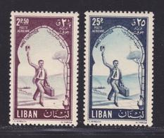 LIBAN AERIENS N°  114 & 116 ** MNH Neufs Sans Charnière, TB (D9352) Année Touristique - 1955 - Liban