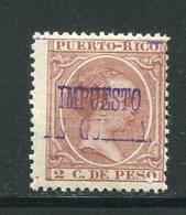 PUERTO RICO- Y&T N°120- Oblitéré - Puerto Rico