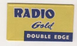 RADIO GOLD DOUBLE EDGE RAZOR BLADE - Scheermesjes