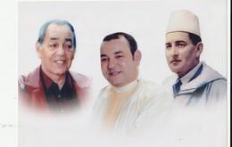Maroc. Photo Regroupant 3 Rois. Format : 15-21 Cm. - Famous People