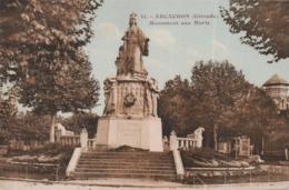 CPA ARCACHON @ MONUMENT AUX MORTS @ - France