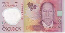 BILLETE DE CABO VERDE DE 200 ESCUDOS DEL AÑO 2014   (BANKNOTE) POLIMERO - Cap Vert