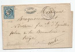 - 1871- PYRENEES ORIENT. - SAILLAGOUSE GC.3261 S/TPND N°46+ Càd T.17 - 1871 - 1870 Emisión De Bordeaux