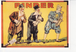 CIRQUE PINDER Le Trio Léonard, Clowns Musiciens, Saxophone, Affiche De 1930 - Circus