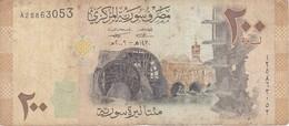 BILLETE DE SIRIA DE 200 POUNDS DEL AÑO 2009   (BANKNOTE) - Siria