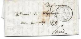 LE COUDRAY CHINON PARIS 1836 -  POUR MME DE LAPLOUZE RUE DE CAUMARTIN - TAXE SUR LETTRE DE 5 PAGES LAC - 1801-1848: Précurseurs XIX