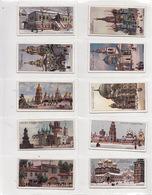 Lot 10 Cigarettes Labels 1910s. Russia Ukraine.Kostroma Moscow Kronstadt Kiev Kazan Bakci-Sarai. Architecture #4. - Collections & Lots