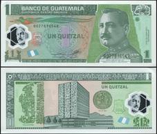 Guatemala 1 Quetzal. 02.05.2012 Polymer Unc. Banknote Cat# P.115b - Guatemala
