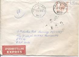 REF588/ TP 1649 Baudouin Elström S/L.Exprès M.D.franchise Partielle C.Roeselare 4/10/76 > BPS 14 C.d'arrivée Post.14 - Poststempel