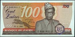 ZAIRE - 100 Zaires 30.06.1985 {Mobutu} UNC P.29 B - Zaire