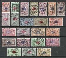 BELGIUM Belgien 1940 Eisenbahnpaketmarken Michel 202 - 224 O - Bahnwesen