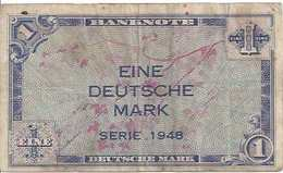 GERMANY FED. REP.  P02a 1 MARK 1948 VF SCARCE - [ 7] 1949-… : RFD - Rep. Fed. Duitsland