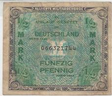 GERMANY FED. REP.  P191 1/2 MARK 1944 F / VF - [ 7] 1949-… : RFA - Rep. Fed. De Alemania
