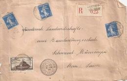 R Briefvs  Chargey-les-Gray - Münsingen           1936 - Francia