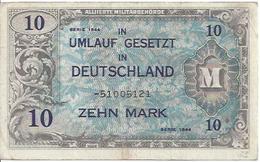 GERMANY FED. REP.  P194 10 MARK 1944 VF - [ 7] 1949-… : RFA - Rep. Fed. Tedesca