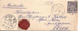 Brieflein  Biarritz - Wien           1898 - 1876-1898 Sage (Type II)