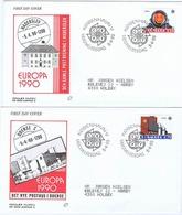 Denmark 1990;  Europa - CEPT;  Set Of 2 On FDC (Populær Filateli). - Europa-CEPT