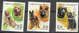TURKEY, 2020, MNH, DOGS, ASSISTANCE AND SERVICE DOGS,3v - Chiens