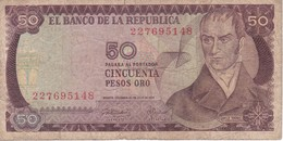 BILLETE DE COLOMBIA DE 50 PESOS DE ORO DEL AÑO 1974  (BANK NOTE) - Colombia