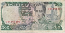 BILLETE DE COLOMBIA DE 200 PESOS DE ORO DEL AÑO 1978  (BANK NOTE) - Colombia