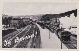 Gare Avec Train Au Vapeur, Steamtrain, Stoomtrein (pk68712) - Gares - Avec Trains