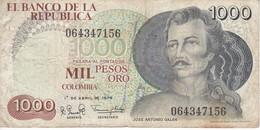 BILLETE DE COLOMBIA DE 1000 PESOS DEL AÑO 1979  (BANKNOTE) - Colombia