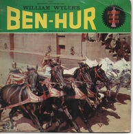 45T. BO Film : BEN-HUR - Musique MIKLOS ROZSA. Photo Pochette : Charlton HESTON - Música De Peliculas