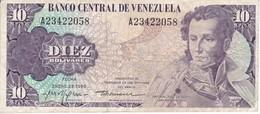 BILLETE DE VENEZUELA DE 10 BOLIVARES DEL AÑO 1980  (BANK NOTE) - Venezuela