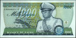 ZAIRE - 1.000 Zaires 24.11.1985 {Mobutu} UNC P.31 - Zaire
