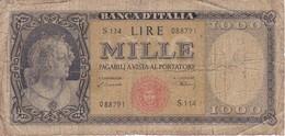BILLETE DE ITALIA DE 1000 LIRAS DEL 15 DE MARZO DE 1947  (BANKNOTE) - [ 2] 1946-… : Repubblica