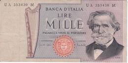 BILLETE DE ITALIA DE 1000 LIRAS DEL AÑO 1969 DE VERDI  (BANKNOTE) - [ 2] 1946-… : Repubblica