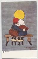 K 684 , OLD  FANTASY POSTCARD  , CHILDREN , FINE ART , - Enfants