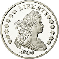 United States Of America, Médaille, Reproduction Silver Dollar Liberty, FDC - Etats-Unis
