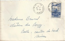 Ausland Brief  Paris - Rolle           1936 - France