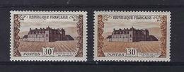 FRANCE 1951: Les Y&T 913 Et 913a, Neufs**, Très Bon Centrage - Plaatfouten En Curiosa