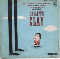 """45T. Philippe CLAY. Fais Ta Prière """"TON DOOLEY"""" +3 - Dessin Pochette De LASSALVY - Vinyles"""