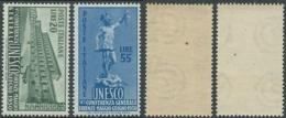 1950 ITALIA UNESCO GOMMA BICOLORE NO LINGUELLA - RC14-4 - 1946-60: Nieuw/plakker