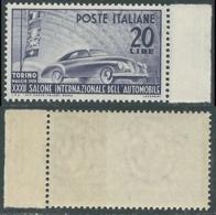 1950 ITALIA SALONE DELL'AUTO DI TORINO GOMMA BICOLORE NO LINGUELLA - RC14-3 - 1946-60: Nieuw/plakker