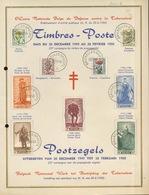 1949. Feuillet D'art Mais Perforé Et Donc Compté Comme Tp Ø - Belgique