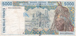 BILLET 5000 FRANCS BCEAO  PICK 113A ETAT VOIR SCAN - Elfenbeinküste (Côte D'Ivoire)