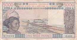 BILLET 5000 FRANCS BCEAO  PICK 108A ETAT VOIR SCAN - Côte D'Ivoire