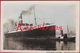 CPA Antwerpen 1932-1933 ZELDZAAM Dampfer Minnewaska Red Star Line Ocean Liner Paquebot Passagierschiff - Paquebote