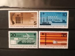 FRANCOBOLLI STAMPS GERMANIA DEUTSCHE DDR 1983 MNH** NUOVI SERIE COMPLETA COMPLETE WORLD COMMUNICATION GERMANY - [6] Repubblica Democratica