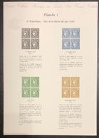 France - Gravure - Collection Historique Du Timbre - Planche 1 - Cérès - 1849 à 1850 - Postdokumente